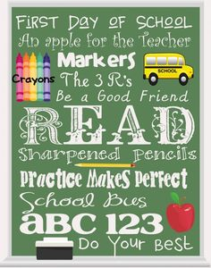 This back to school / school themed printable would look great in a frame. I'm picturing it on a table with a basket of apples at open house. :) Jodi from The Clutter-Free Classroom www.CFClassroom.com