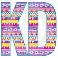 kappa delta letters with chevron pattern inside love it