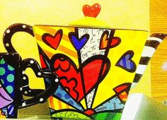 Pop Artist Romero Britto Love Teapot and by stuartchristopher, $75.00