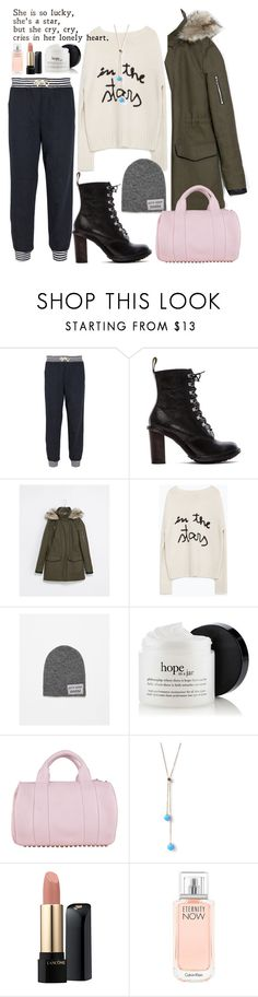 """reflection//"" by bluveraa ❤ liked on Polyvore featuring Band of Outsiders, Dr. Martens, Zara, Alexander Wang, Meriko, Lancôme, Calvin Klein, women's clothing, women's fashion and women"