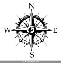 Nautical compass and wind rose concept in vintage monochrome style isolated vector illustration Compass Drawing, Compass Art, Compass Vector, Compass Logo, Nautical Compass Tattoo, Nautical Logo, Compass Tattoo Design, Mens Compass Tattoo, Vintage Compass Tattoo