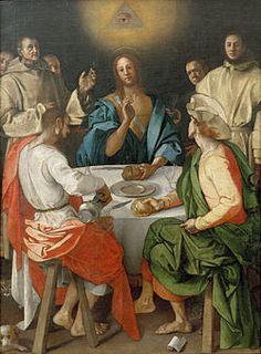 CENA IN EMMAUS  Autore Pontormo  Data 1525  Tecnica olio su tela  Dimensioni 230×173 cm  Ubicazione Uffizi, Firenze