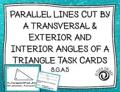 Parallel Lines cut by a Transversal Printable Missing