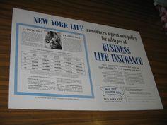 1954 Print Ad New York Life Insurance Business New York,NY #MagazineAd Insurance Ads, Insurance Business, Life Insurance, Print Advertising, Print Ads, New York Life, Magazine Ads, Vintage, Vintage Comics