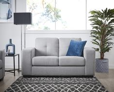 The gorgeous Tivoli 2 Seater Sofa combines stunning looks and sumptuous comfort in a choice of fabulous colours. Shop now, only at Fantastic Furniture! Silver Fabric, 2 Seater Sofa, Furniture Assembly, Sit Back And Relax, Fabulous Fabrics, Fabric Sofa, Contemporary Style, Love Seat, Cushions