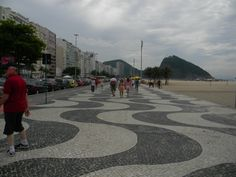 Copacabana. Rio de Janerio...the streets designed and put in place by the Portugese