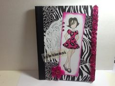 Notebook I made using Prima Doll stamp. Made by: Frances Trinidad
