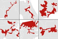 gerymandering http://www.washingtonpost.com/blogs/wonkblog/wp/2014/05/15/americas-most-gerrymandered-congressional-districts/