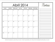 http://actividadesfamilia.about.com/od/Calendarios/ss/Calendarios-Imprimibles-Del-2014-Con-Espacio-Para-Notas_4.htm