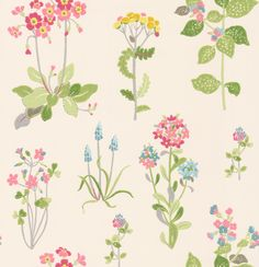 Willowbrook Pink/ Green wallpaper by Jane Churchill