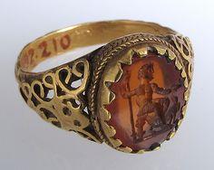 Finger Ring. Date: 3rd century. Culture: Eastern Germanic. Medium: Gold, carnelian intaglio