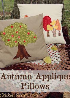 Apple Tree Applique Pillow