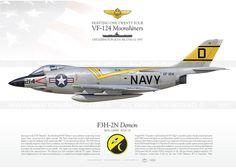 "F3H-2N ""Demon"" VF-124 ""Moonshiners"" MB-108"