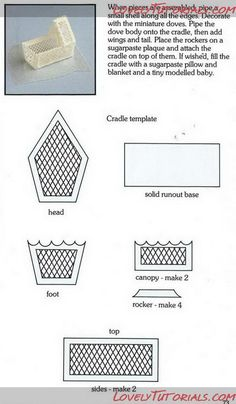 Name: royal icing cradle template