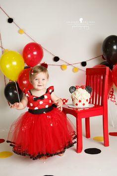 F is one – Sonoma Cake Smash Photographer » Jeneanne Ericsson Photography minnie mouse cake smash