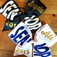 Senior cheer bow #seniors #bows #cheerleading