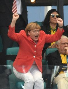 World Cup 2014 - Germany vs Portugal our Angela Merkel