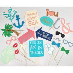 Romantic Beach themed props beach wedding by LeStudioRose on Etsy
