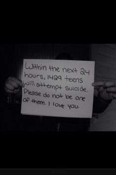 I love everyone please don't ever hurt yourself. Your life matters. You are NEVER alone.