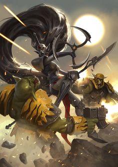 Warhammer 40,000, warhammer40000, warhammer40k, warhammer 40k, Waha, sorokotysyachnik, fandom, Orks, Craftworld Eldar, Eldar, Phoenix Lord, Howling Banshees, Jain Zar
