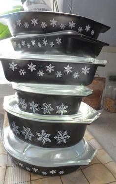 Black Snowflake Pyrex