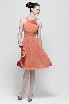 Coral!  Watters Maids Dress 7541 | Watters.com
