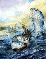 Studio Rayyan Martha's Vinyard Striped Bass and Bluefish Derby illustration for publicity 2009
