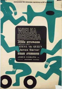 Polish movie poster for The Great Escape by Wiktor Gorka (1967)