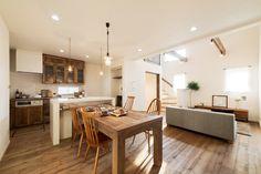 スキップフロアとインナーテラス、自分時間を愉しむ家