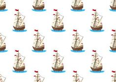 Sailing Ship with Red Flag Backing Paper on Craftsuprint designed by Apetroae Stefan - Sailing Ship with Red Flag Backing Paper - Now available for download!