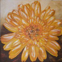 Original Acrylic on canvas 20x20 Orange Daisy by ArteGraciela, $225.00