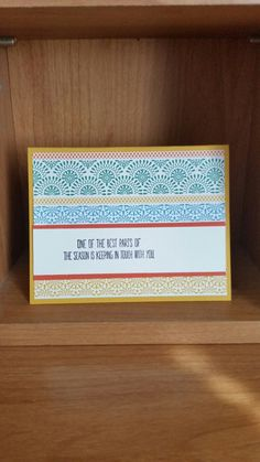 Stampin up cute card made using Festive birthday dsp and Better together stamp set! careyne06.blogspot.com