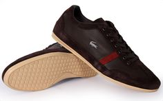 Lacoste Mens Sneakers Misano 22 Brown 7-26SRM3041 176 New With Box Authentic