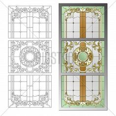 Фреска #115178669 stained glass pattern