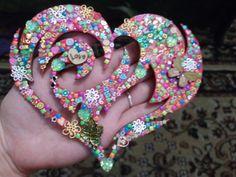 Мое винтажное сердце_магнит #магнитвинтаж