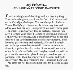 Wow, just what I needed to read and hear from my Heavenly Father. Thank you Jesus! Faith Quotes, Bible Quotes, Bible Verses, Prayer Scriptures, Daughters Of The King, Daughter Of God, Gods Princess, My Princess Quotes, God Is For Me