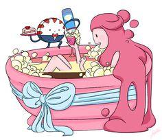 Adventure Time - Princess Bubblegum bath time