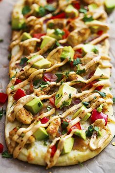 California Chicken Flatbread with Chipotle Ranch: This is SO much better than ordering out.
