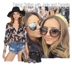 """Taking Selfies with Jade and Danielle"" by elise-22 ❤ liked on Polyvore featuring Prada, Office and Retrò"