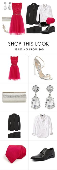 """""""Untitled #213"""" by frupapp on Polyvore featuring Dorothy Perkins, Jimmy Choo, Kenneth Jay Lane, Burberry, Banana Republic, Ted Baker, Julius Marlow and Lacoste"""