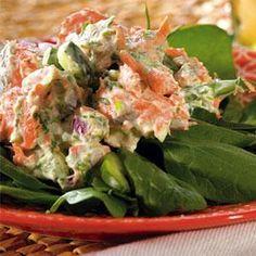 *Green Goddess Salmon Salad