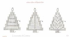 Bildergebnis für imagenes de cortinas a crochet Crochet Christmas Decorations, Christmas Crochet Patterns, Crochet Christmas Ornaments, Christmas Items, Christmas Crafts, Crochet Snowflake Pattern, Crochet Motif, Crochet Tree, Crochet Flowers