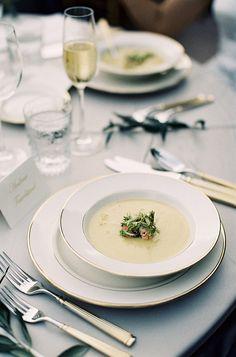 #plates  Photography: Élan Klein - elankleinphoto.com  Read More: http://www.stylemepretty.com/2014/10/13/elegant-garden-wedding-at-a-montecito-estate/