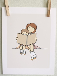 Reading Together;  art - illustration I always enjoyed this time with my children