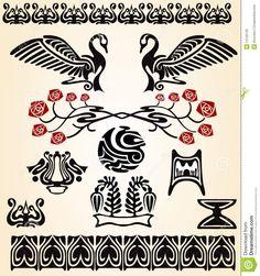 Pássaro Do Nouveau Da Arte Imagens de Stock Royalty Free - Imagem: 14726729