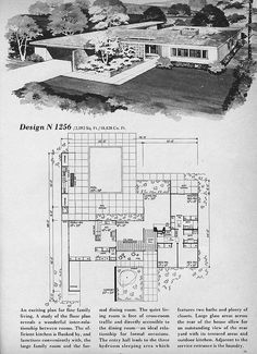 Home Planners Diseño N1256 por MidCentArc, a través de Flickr