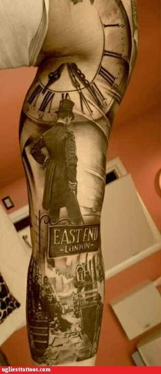 Crazy leg tattoo - great work!!