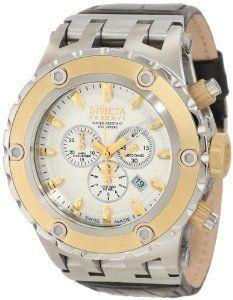 Invicta Men's 10079 Subaqua Reserve Chronograph Cream Textured Dial Watch