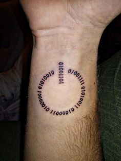 My third tattoo… Its my name in binary code..