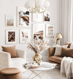 Room Interior, Interior Design Living Room, Living Room Designs, Design Bedroom, Beige Living Rooms, Boho Living Room, Living Room Gallery Wall, Beige Room, Beige Walls